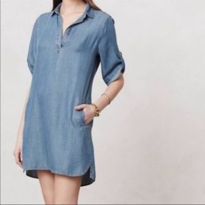 Cloth & Stone Denim Chambray Shirt Dress